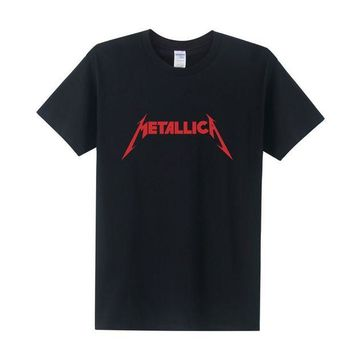 DK7G2 Fashion Rock Metallica t shirt men Cotton O-Neck Tees Shirts for couple Hip Hop Rock shirts tees Free Shipping OT-024