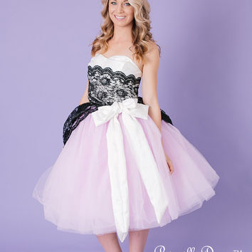 LAST ONE Bridal Lace and Tulle Teaparty Wedding Gown Prom Dress 2013 Custom in your size with Color options