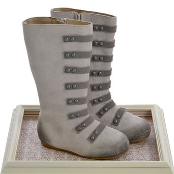 Joyfolie Sloan Grey Girls Designer Fall Boots