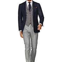 Jacket Blue Plain Hudson C774i | Suitsupply Online Store