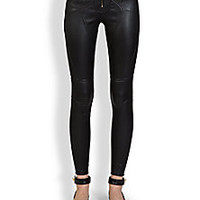 Givenchy - Leather Zipper Leggings - Saks Fifth Avenue Mobile