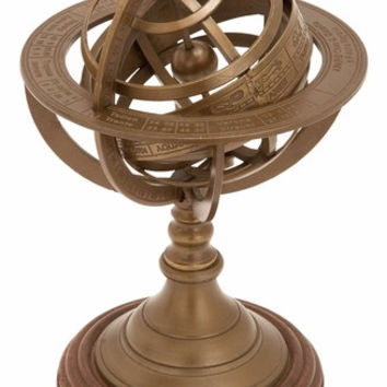 Brown Armillary With Fine Marked Multiple Ring Plates