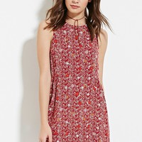 Crochet Floral Gauze Dress