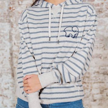 Heather Striped Hoodie