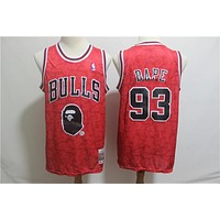 93 Bape x Warriors Bulls Celtics Basketball Jersey