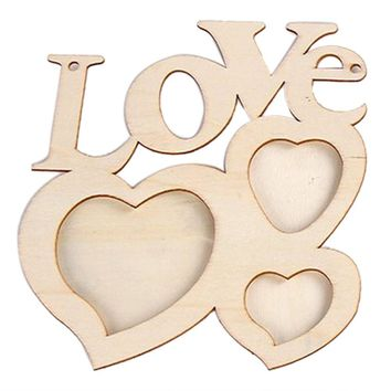 Special Hollow Love Wooden Photo Frame