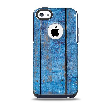 Worn Blue Paint on Wooden Planks Skin for the iPhone 5c OtterBox Commuter Case