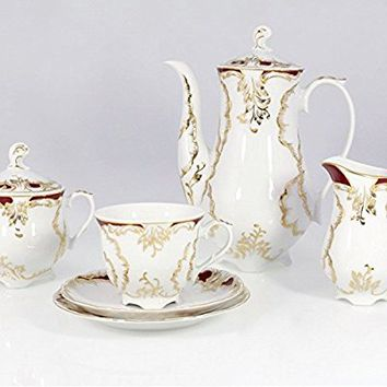 Coffee/Tea Set, 12 Place Settings Rococo Design