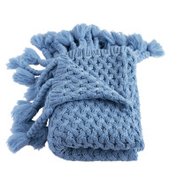 Judy Wedgewood Blue Knitted Throw