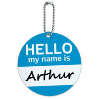Arthur Hello My Name Is Round ID Card Luggage Tag