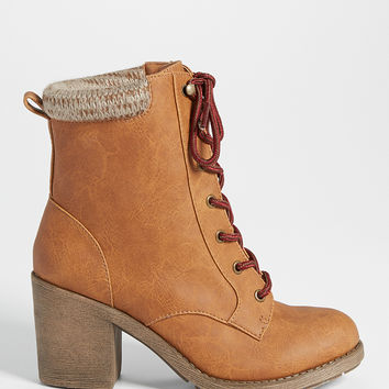 haddie boot with sweater knit cuff