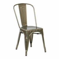 Bristow Armless Chair, Gunmetal, 2 Pack
