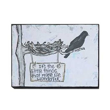 Gallery Black Birds Wall Decor 7-3/4-in L X 5-3/4- in H (It's The Little Things That Make Life Wonderful)