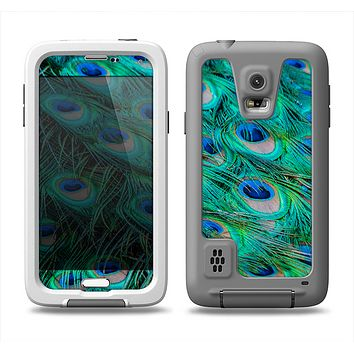 The Neon Multiple Peacock Samsung Galaxy S5 LifeProof Fre Case Skin Set