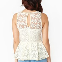 Petal Peplum Top