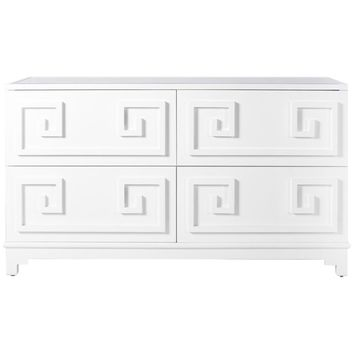Worlds Away Werstler Four Drawer Veneer Dresser