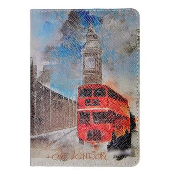 Unisex Vintage Leather Bus Travel Passport Wallet Cover Holder