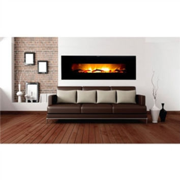 Modern 50-inch Wide Wall Mounted Electric Fireplace Heater