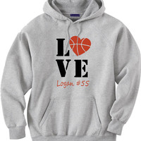Personalized Basketball Mom Hoodie.  Basketball Love.