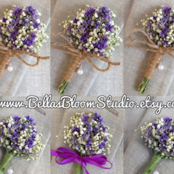 Organic Dried Lavender Boutonniere Rustic Boutonniere Baby's Breath Boutonnieres, Mens lapel pin, Boutonniere , Lavender Boutonniere etsy - Edit Listing - Etsy