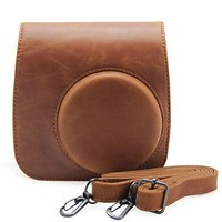 Andoer Artificial Leather Camera Case Bag Cover for Fuji Fujifilm Instax Mini8 Mini8s Single Shoulder Bag