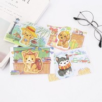 Happy Dog Go to School Self-Adhesive Memo Pad Sticky Notes Post It Bookmark School Office Supply