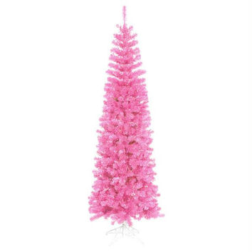 Artificial Christmas Tree - 587 Pink And Holographic Purple Tips