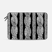 Cable Row Black Macbook 12 sleeve by Project M | Casetify