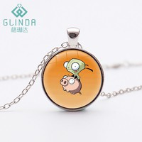 Cartoon Movie Tv Alloy Fashion Invader Zim Silver Plated Necklace Cosplay Anime Figures Pendants Children Gifts Christmas Gifts