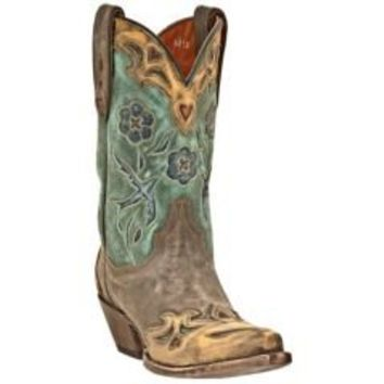 Sheplers: Dan Post Blue Bird Wingtip Cowgirl Boots - Snip Toe