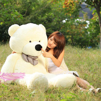 2015 New Arriving Giant Right-angle measurements 210CM/82''inch TEDDY BEAR PLUSH HUGE SOFT TOY Plush Toys Valentine's Day gift 6 colours