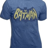 Junk Food Batman Vintage Logo Light Navy Adult T-shirt  - Shirts Sheldon Has Worn - Free Shipping on orders over $60 | TV Store Online