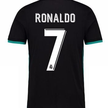 2018 new Real Madrid away black Soccer Jersey 17/18 Real Madrid CR7 Away black soccer