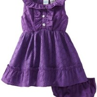 Baby Togs Baby Girls' Eyelet Dress, Purple, 24 Months