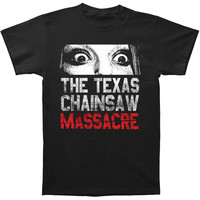 Texas Chainsaw Massacre Men's  Don't Look Now Slim Fit T-shirt Black Rockabilia