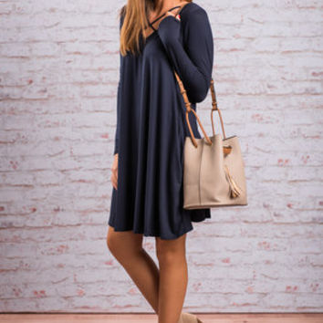 Rise To The Occasion Dress, Navy