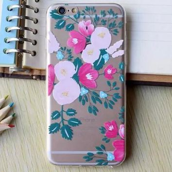 Hollow Out Rose White Floral iPhone 5se 5s 6 6s Plus Case Cover + Nice Gift Box 364-170928