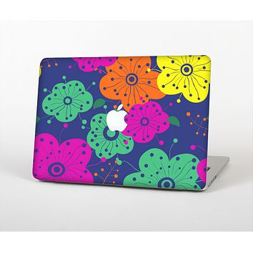 The Bright Colored Cartoon Flowers Skin for the Apple MacBook Air 13""