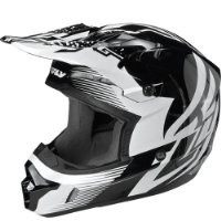 Fly Racing Kinetic Inversion Adult Black/White Graphic Full Face Helmet - Large