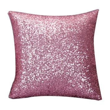 Sequin Throw Pillow Cover=