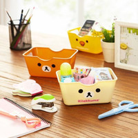 Rilakkuma Bear San-X Office/Kitchen/Bathroom Storage Basket Storage Box