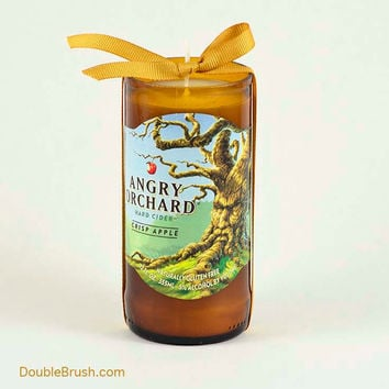Upcycled Bottle Angry Orchard Candle