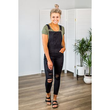 Kan Can Black Overalls (XS-XL)
