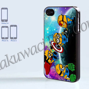 Despicable Me  Avenger Galaxy  - iPhone 4 case - iPhone 4S case - Samsung Galaxy S3/S4 - iPhone case - Hard Plastic - Case Soft Rubber Case