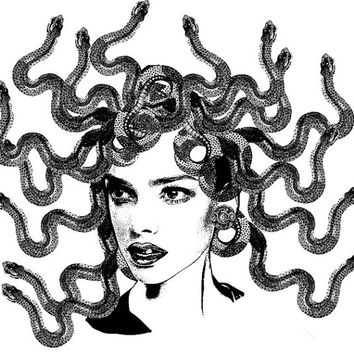 medusa Digital art download printable png image graphics fantasy mythology original art fantasy illustration