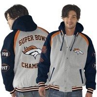 Denver Broncos Rookie Of The Year Button-Up Jacket - Gray/Navy Blue