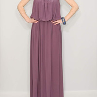 Long Purple Dress Maxi Dress Bridesmaid dress
