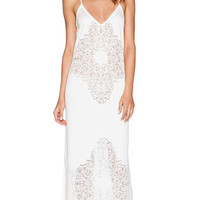 SKIVVIES by For Love & Lemons Forget Me Not Nightgown in White