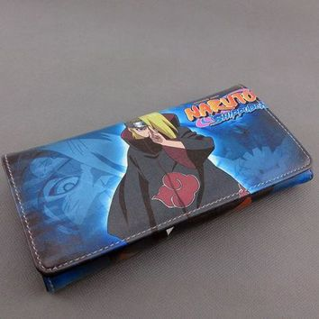 Naruto Long Style Wallet Purse Deidara & Akatsuki Organization
