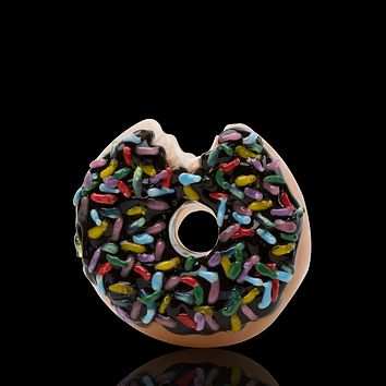 Empire Glass Sprinkled Donut Glass Pipe